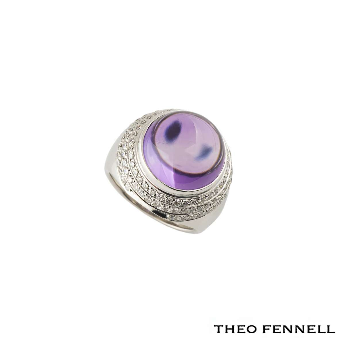 Theo Fennell Diamond and Amethyst Dress Ring